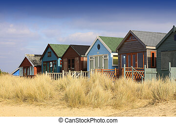 Row of Beach Huts - A landscape format image of a row of...