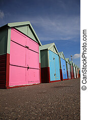 Row of beach huts Brighton