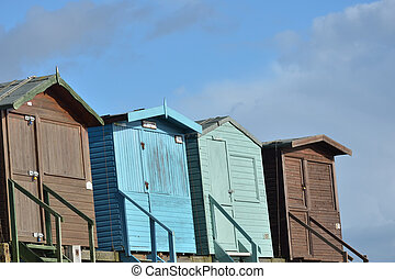 Row of  Beach huts