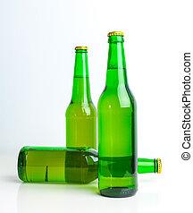 Row of beer bottles