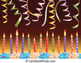 row of birthday candles