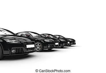 Row Of Black Cars