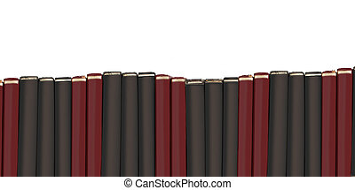 Row of blank text books - Blank hardcover textbooks border...
