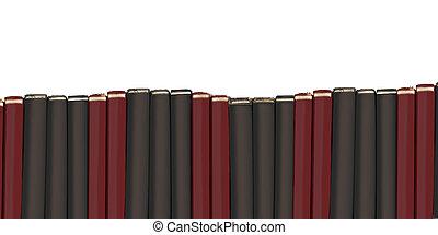 Row of blank text books - Blank hardcover textbooks border...