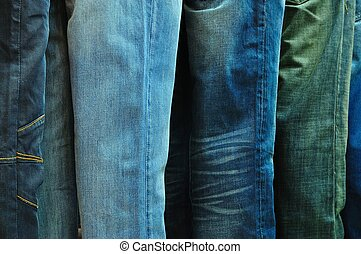 Row of Blue Jeans