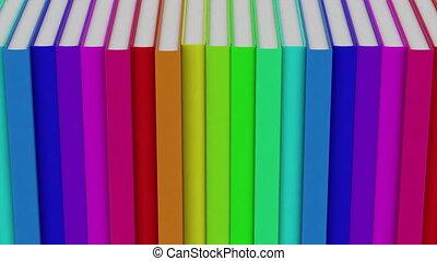 row of books loop