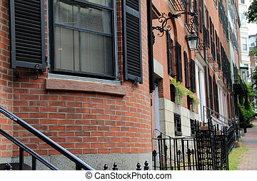 Row of brownhouse apartments