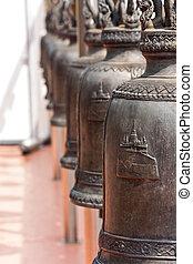 Row of Buddha bell