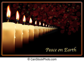 Row of candles - A row of photo realistic candles on a...