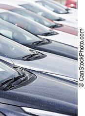Row of cars.