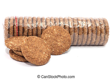 row of cereal breakfast biscuits