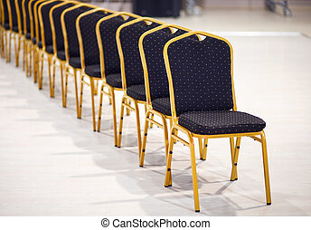 Row of chairs in a boardroom