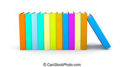 Row of colored Books