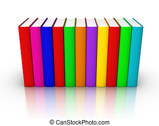 Row of Colourful Books - Row of Colorful Books