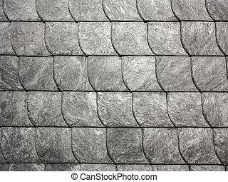 grey roof slate in harmonic pattern