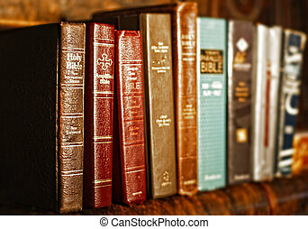 Row of Holy Bibles