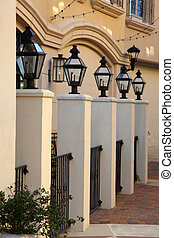 Row of lamp posts