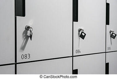 row of locker box - stainless steel