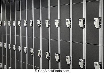 Row of locker for storage