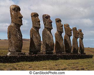 Row Of Moai