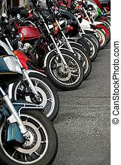 Row of motobikes