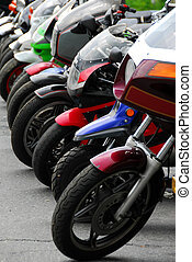 Row of motocycles