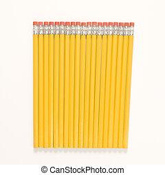 Row of new pencils.