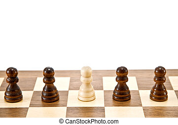 pawn -  row of pawn on chessboard