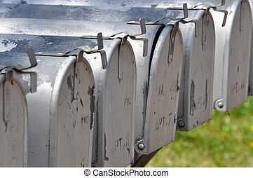 Row of Postal Mailboxes