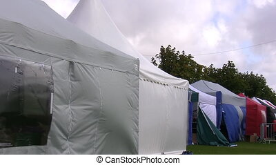 Row of retail tents