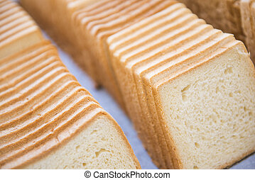 row of sliced bread
