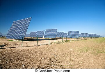 row of solar panels
