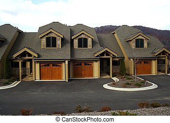 Row Of Town Homes - Row of newly constructed town homes.