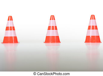 Row of traffic cones / pylons