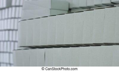 Row of white blank boxes.