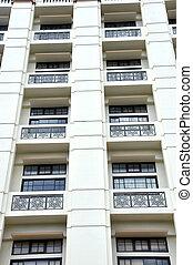 row of windows
