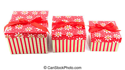 Row with christmas presents