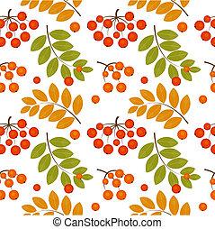 Rowan berry seamless - Ash berry seamless pattern. Vector...