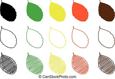 rowan leaf color set