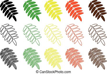 Rowan leaf - color set