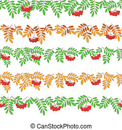 Rowanberry, seamless - Seamless pattern for web design -...