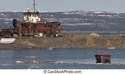 Rowboat and Tug 1