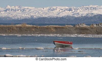 Rowboat drifting on painter - Potential fishing/shipping...