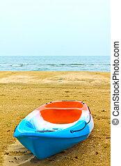 rowboat, sandstrand