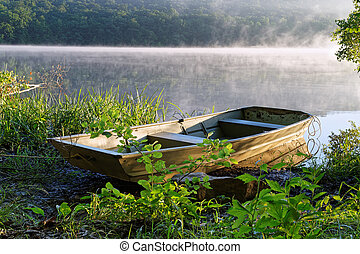 Rowboat with Fog