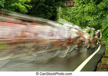 rower, droga, prąd