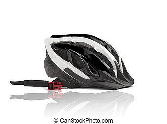 rower, głowa, hełm bezpieczeństwa