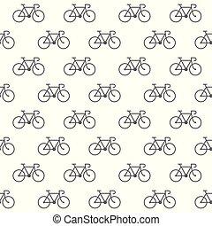 rower, ikony, próbka, seamless, tło, biały