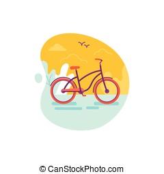 rower, -, lato, pojęcie