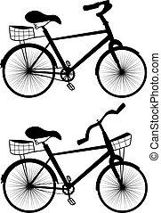 rower, rysunek, ilustracja